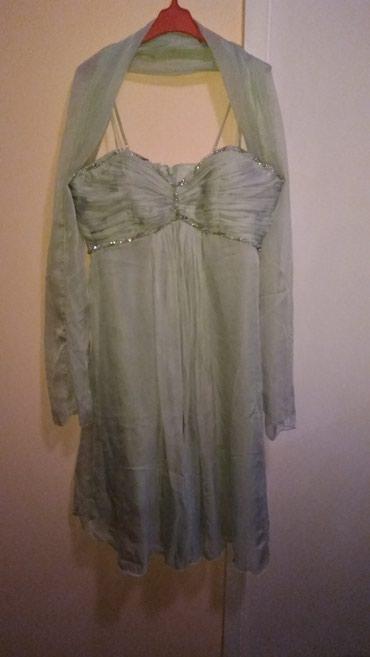 Svecana, haljina, zelene boje, prijatnog materijala. velicina L- Xl - Smederevska Palanka