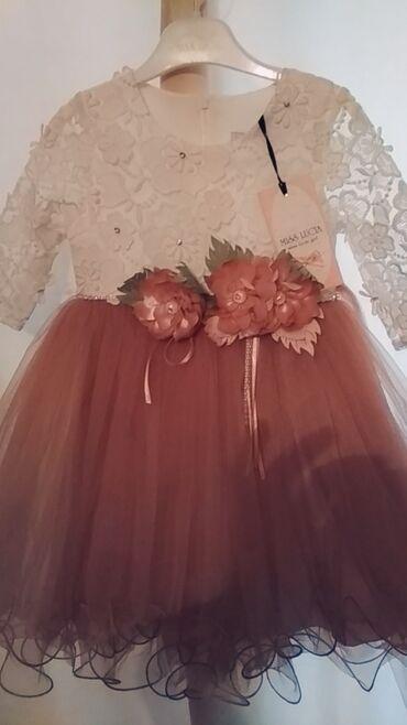 нарядное платье в пол в Кыргызстан: Нарядное платье для маленькой принцессы на годик до полтора новый с э