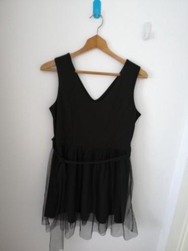 Crna haljinica sa tilom Jednom obučena Veličina M - Obrenovac