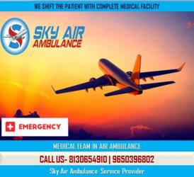 Sky Air Ambulance in Chennai with very Advanced Medical Features in Kamalamai