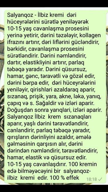 Bakı şəhərində Dünya qadınlarını cavanlaşdıran və gözəlləşdirən Salyanqoz krem
