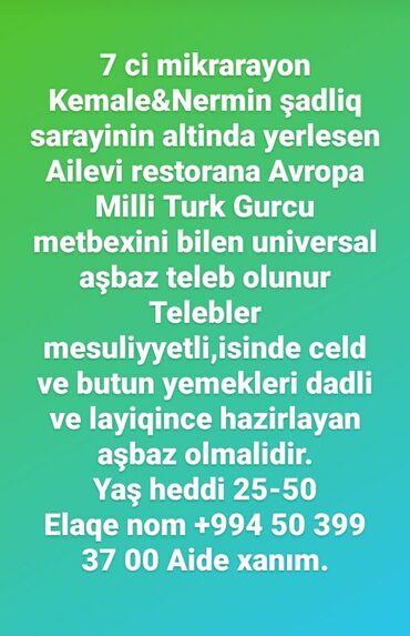 daye isi teklif olunur - Azərbaycan: Etrafli melumat ucun zeng edin