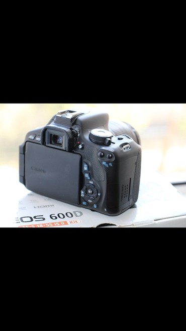 "canon fotoaparat - Azərbaycan: Fotoaparat ""canon 600d""Super veziyyetde 18x55 linza ile canon eos"