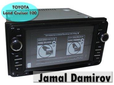 Bakı şəhərində Toyota land cruiser 100 üçün dvd-monitor. Dvd-монитор для