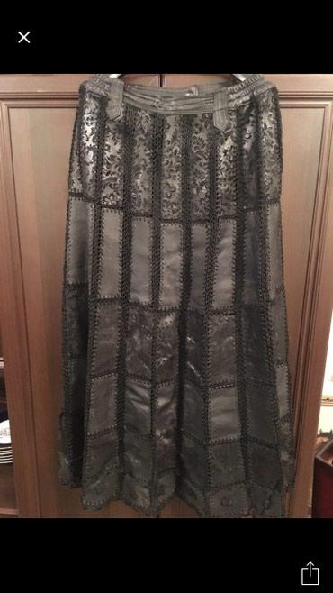 Новая 100% коженная юбочка Турция,размер 50-52(Бишкек),длина до