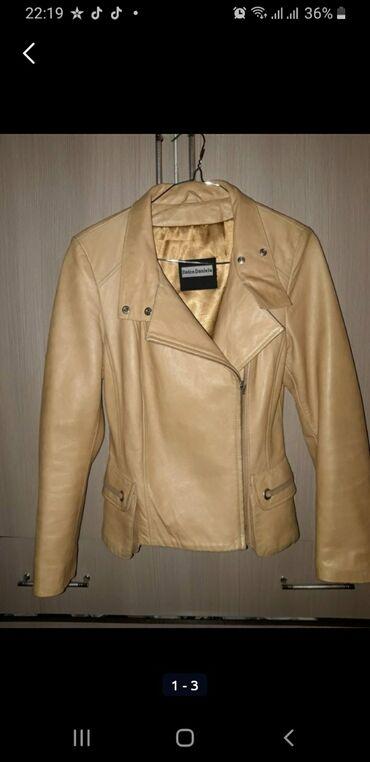 куртка касуха в Кыргызстан: Италия, кожа 100%, в отличном состоянии, размер S-M, торг уместен