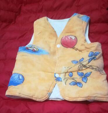 Dečija odeća i obuća - Vranje: Prelep kvalitetan narandžasti prsluk za uzrast 1-2 god, obim ispod