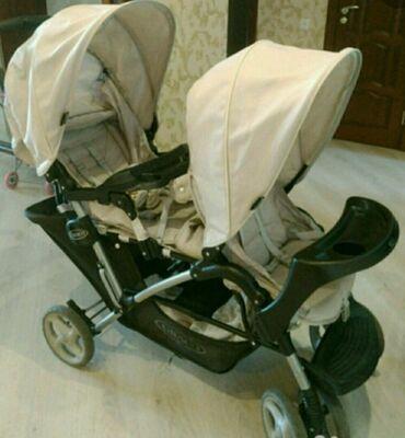 велик для двойняшек в Кыргызстан: Продаю всесезонную коляску для двойняшек или погодок,фирменная