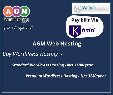 Buy WordPress hosting @Nrs.1600/year with instant cashback on