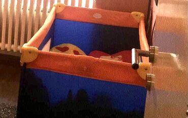 Carape sa prstima - Srbija: Park za bebu,kao novo,od 0 do4 godine,sa dusekom,plavo naranzaste boje