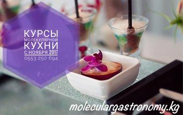 Открываем курсы по Молекулярной Кухне. С 1 ноября 2017 года. в Бишкек