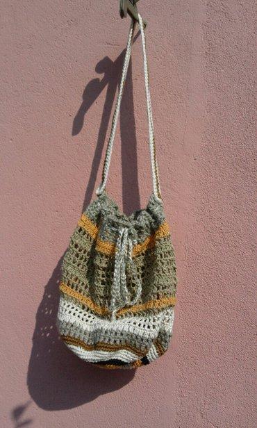 Heklana torba obima 65 cm .visina ovog donjeg dela 35cm - Vrnjacka Banja