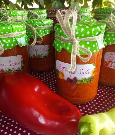 Peci na drva - Srbija: Ajvar 100% domaći, fantastičan ukus, bez konzervansa. Rezervaci