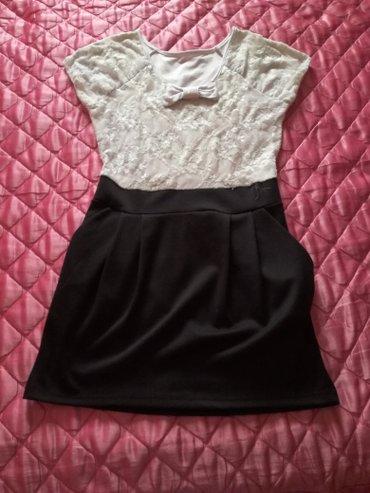 Crno bela haljinica l/m - Kovacica