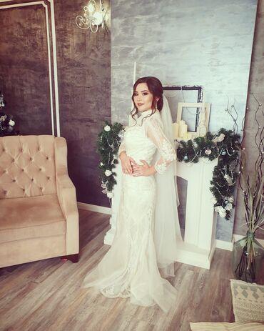 свадебные платья in Кыргызстан   КОНДИТЕРСКИЕ ИЗДЕЛИЯ, СЛАДОСТИ: Продаю свадебное платье 44-46 размера, сшито индивидуально, фата в под