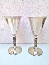 Alfa-romeo-spider-2-4-td - Srbija: 2 Lux POSREBRENE čaše za Vino2 kom. Luxuzne Posrebrne čaše za Vino