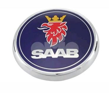 Tuning i styling oprema - Srbija: Znak za SAAB 68 mm zadnji i prednji.Kao na slici . Cena je za jedan