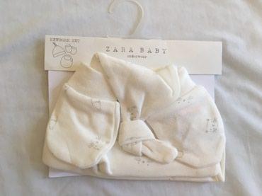 Ostala dečija odeća | Uzice: Zara set za bebe kapa, rukavice i portikla