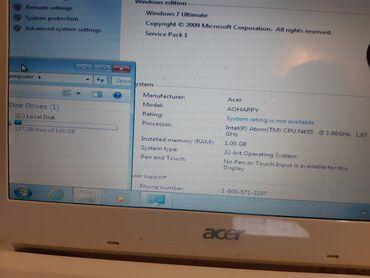 Acer Aspire Oneispravan laptopu top stanju, maksimalno ocuvan. Lep