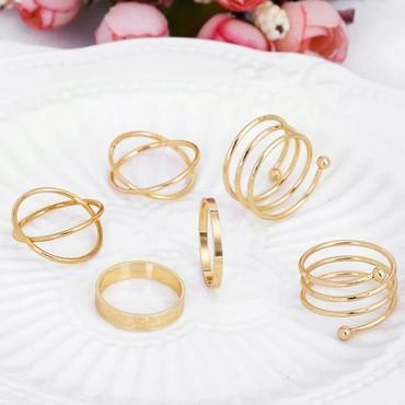 Gospodar prstenova - Srbija: Set od 6 prstenova, dostupan i u srebrnoj boji