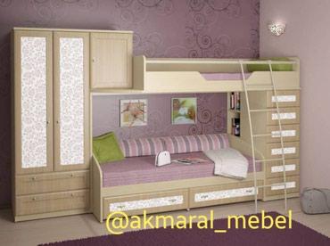 Шкаф+двухъярусный кровать +комод в Кок-Ой