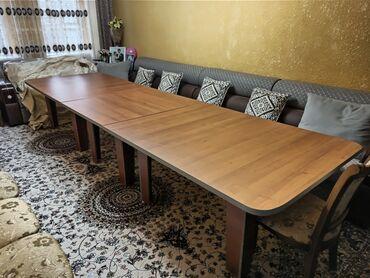 пескоблок размеры бишкек в Кыргызстан: Стол для зала, кухни, гостиной. Размер 4.20 м. на 1.20 м, высота
