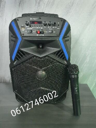 Bez-mane - Srbija: Bluetooth zvucnik karaoke + Bezicni mikrofon BK-T8017 Veliki bluetooth
