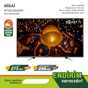 alfa romeo spider 32 mt - Azərbaycan: NIKAI smart TV modelləri televizorlar çox ucuz münasib