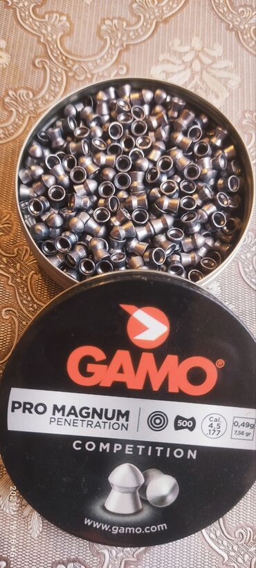 Tir. Güllə.pellet.пулька.kurşun.GAMO-pro magnum 0.5 gram. 500ed --