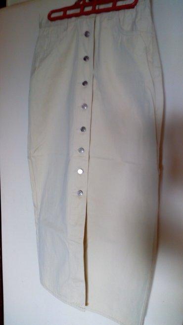 Pamucna zenska suknja,br 29,nova.Krem boja. - Kraljevo