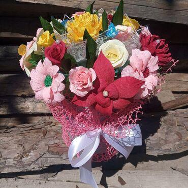 Цветы из гофрированной бумаги на заказ  Обращаться по телефону
