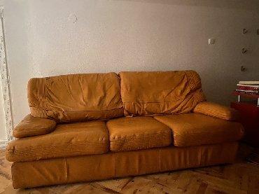 Nameštaj - Cacak: Simpo prava koza dvosed trosed fotelja vesna +488