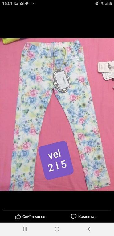 Novo. pantalone za devojcice vel.2 i 5