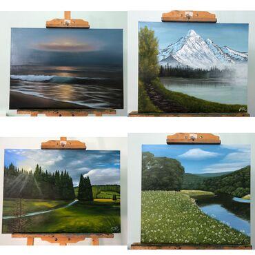 Новые картины на продажу  Пейзаж 1. Вечернее море(50*70) -3200 сом  2