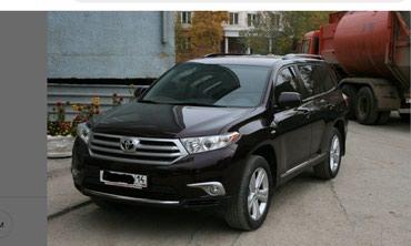 Тойота Хайлендер аренда с водителем в Бишкек