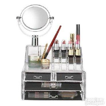 3328 oglasa: Stalak za šminku sa ogledalom Vrlo praktican organizator za sminku, i