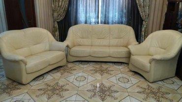 РАСПРОДАЖА!!!Кожаные диваны (б/у), состояние  отличное!  в Бишкек