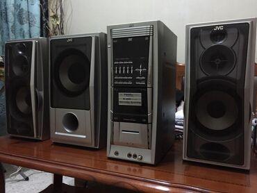 """kaset - Azərbaycan: """"JVC"""" musiqi mərkəzi2+1 sistem.5400 wattDVD, FM radio, kaset.AUX çıxşı"""