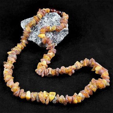 Калининградский необработанный янтарь для здоровья. Длина 52 см. 36,45
