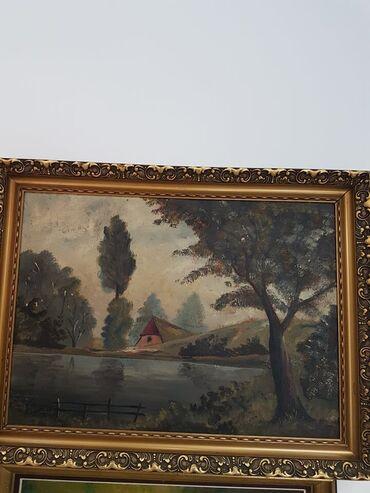 Slike na platnu - Srbija: Odlicna slika u lux ramu dimenzije62 cm82 cm SLIKA JE ULJE NA