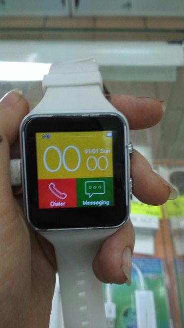 Смарт часы-телефон x6-1300сом .цвет черный и белый в Бишкек