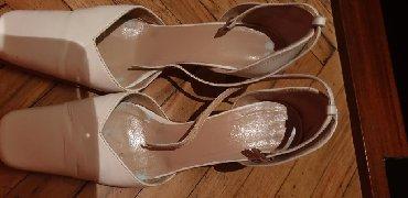 Ženske Sandale i Japanke - Crvenka: BELE KOZNE SANDALE BR.39 MADE IN ITALY