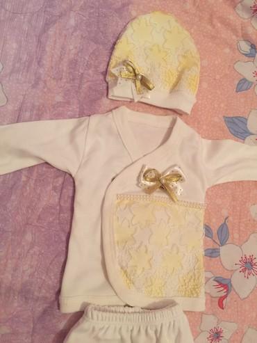набор для новорожденных в Кыргызстан: Новый костюм тройка для новорожденных