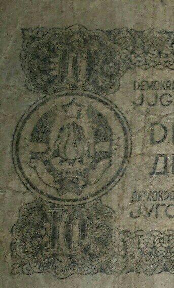 Jugoslovenski dinar,ratne 1944 g. Prodao bi po ceni od 19€ - Rumenka