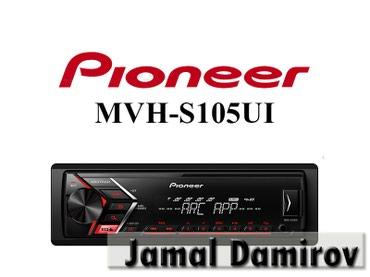 Bakı şəhərində Maqnitola Pioneer MVH-S105UI.
