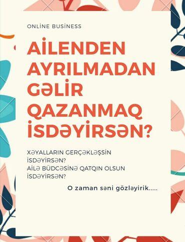 daye isi teklif olunur - Azərbaycan: Beynəlxalq şirkətin platformasında iş imkanı.Tələblər: daimi internet