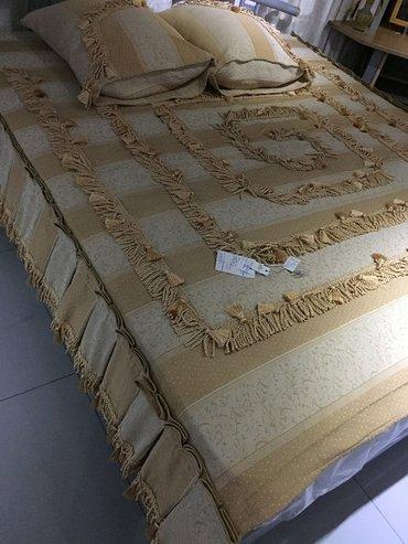 Б/У покрывало на кровать 180 см +2 наволочки 50 см х 70 см в Бишкек