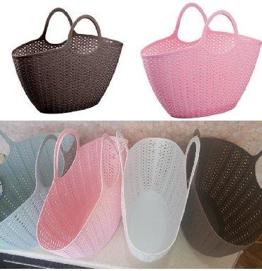 Акция цена! Сумка корзинка НОВЫЕ пластиковые идеально на пляж!!! Сумки