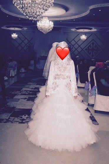 срочно продаю свадебное платье,длинный рукав в национальном стиле,без  в Кызыл-Адыр