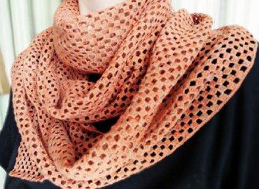 украшение шарфик в Кыргызстан: Легкий шарфик на весну (100 % хлопок)Цвет - терракотовый (меланж)